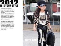 Кофта для девочки 2012 Children leopard long sleeve Hoodie, girls Bat sleeve cardigan/jacket