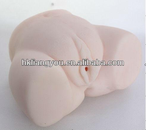 Baratos sólidos 3D full silicone mini boneca sexual vagina artificial e vagina artificial dois furos GFM-0223