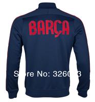 Спорт 2013-14 с длинными рукавами пальто Барселона куртка для мужчин игра болельщиками синий болельщиками зимние пальто футбол Одежда