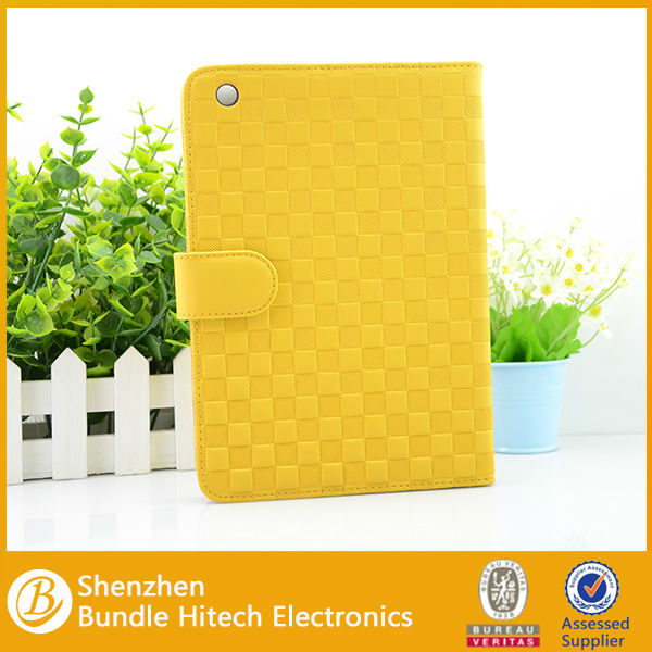 2014 hotselling leather wallet case for ipad mini
