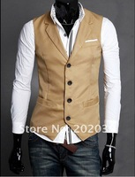 Мужская толстовка Men's Fashion Suit Vest Top Slim & Fit Luxury business Dress Vest 1M66