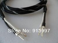 штекер чистого серебра банан dz-3508 4n ОФК HiFi спикер кабеля, 2,5 м * 2 p od14mm