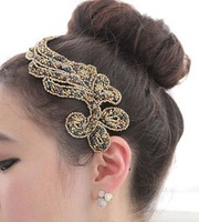 Min.order is $10 (mixed order)  temperament beaded resin cloth art plant hair band hair accessories