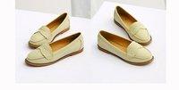 Водонепроницаемые мокасины для женщин 2012 Women 's Fashion Office Boat Shoes, Women 's European Style multi color Flats, A48