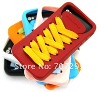 Чехол для для мобильных телефонов For iPhone 4 Case Shell Sporty Shoe Silicone Skin Case Back Cover with Retail Box, Mix Colors Available, 10PCS/Lot