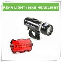 Фара для велосипеда Waterproof LED Bike Bicycle Head Light+Rear Flashlight LY-6059
