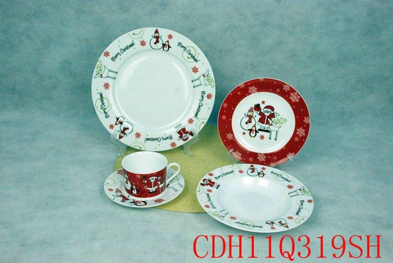 Bonhomme de neige decal porcelaine ensemble de no l festival de porcelaine d - Service vaisselle noel ...