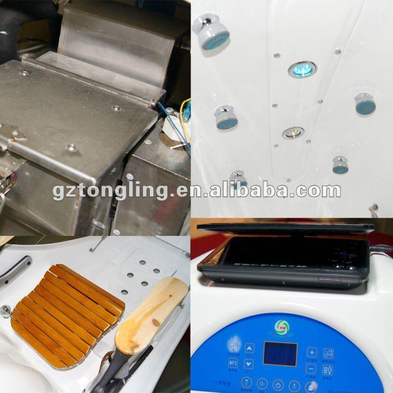 infrared sauna hydro water spa massage beauty equipment/slimming machine ASD-C903DVD screen White