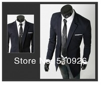 2012 Fashion mens silm long suit jackets, classic Christmas fit Jacket Blazer, single breasted suit