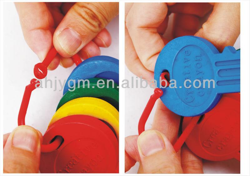 4PCS Key Shaped Good Quality Plastic Crayon.