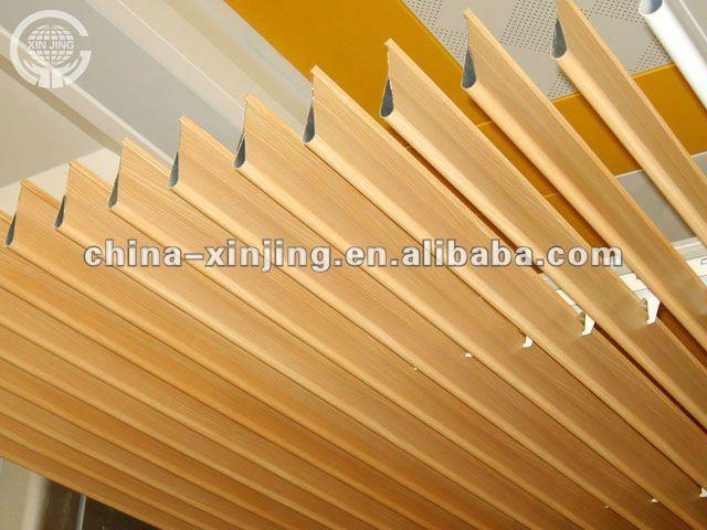madera color tira de metal falso falso techogota de agua falso techo deflector