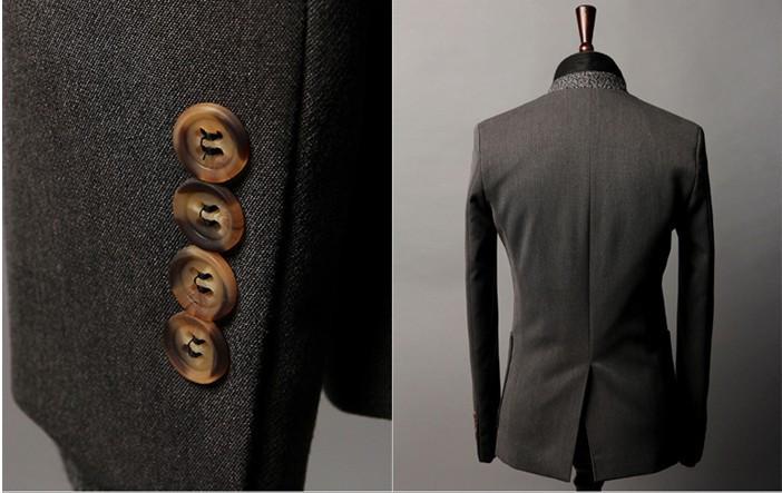 Мода бренда мужской костюм платье, корейский Дизайн slim fit Блейзер, нежный стильный мужской костюм куртки мужской 9615