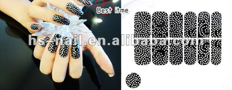 2012 New fashion nail art sticker with 300+ kinds
