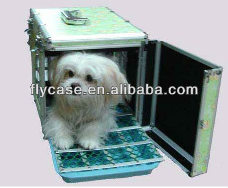 Aluminum frame fireproof hard shell sturdy pets carrying cases at factory price
