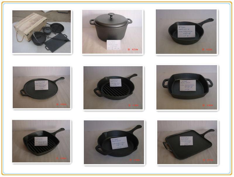 4 pcs óleo vegetal de ferro fundido panelas conjuntos
