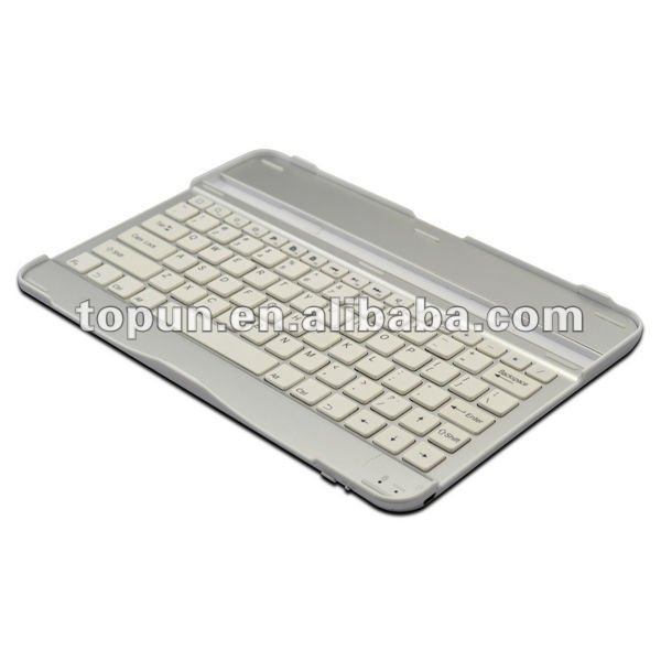Hot sale 3 in 1 (Wireless Bluetooth Keyboard+Aluminum Case+iPad2 Stand) Aluminum bluetooth keyboard for iPad 2/3
