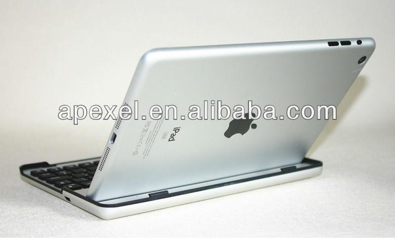 Mobile bluetooth keyboard for iPad mini,aluminum keyboard cover for ipad mini BK-24-2