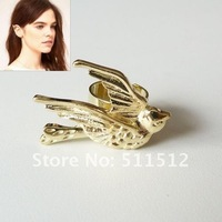 Серьги-клипсы 2012 New Punk metal swallow ear clip earrings Gold/Silver mix order EE23271