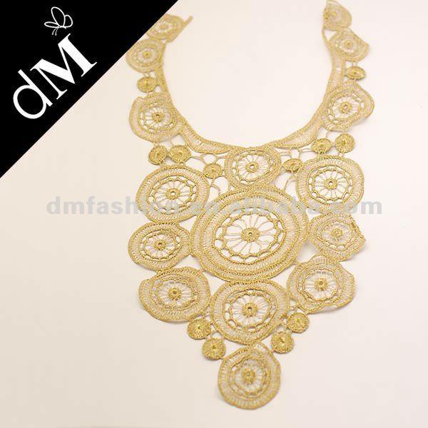 Gold Metallic Braid Trim Peter Pan Collar - Buy Metallic Braid Trim ...