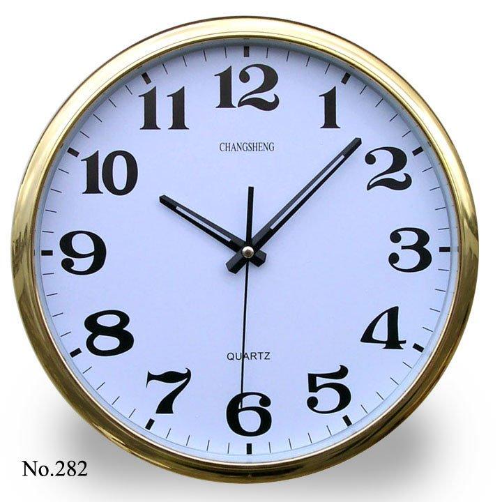La oficina de oro reloj de pared el ctrico de la pared - Relojes de diseno de pared ...