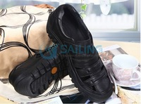 HK or china post  free shipping,   fashion  real cow leather, handmade Sewing ,Men Sandals and shoes  Leather joining together