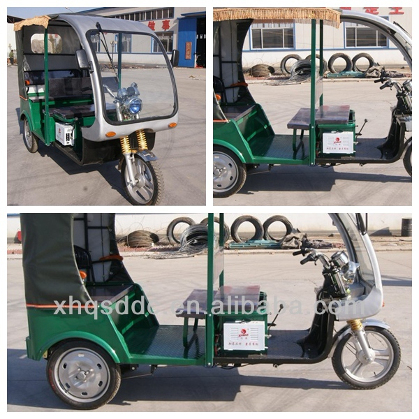 High motor battery powered electric tricycle market price list in india