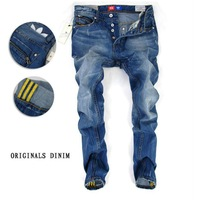 Мужские джинсы High quality 2013 new brand men jeans, individuality straight leg denim pants men trousers Size 28-38 MK40-9195