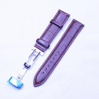 10шт/много высокого качества 20 мм натуральная кожа смотреть band смотреть ремешок Часы коричневый цвет пояса-130601109