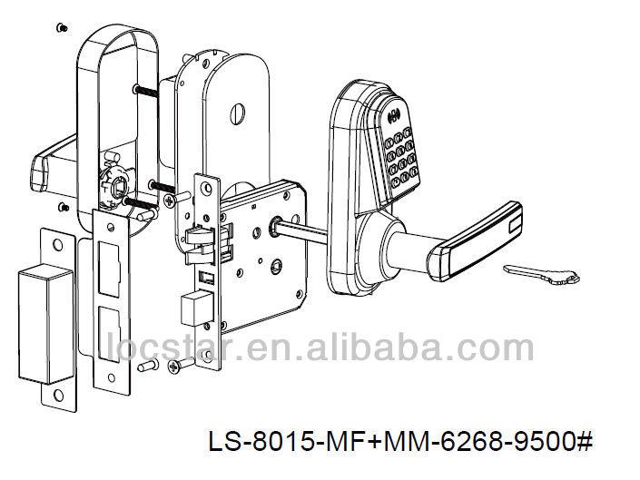 2014 hot sale LS8015 Remote Control TM Card digital lock,Digital door Lock