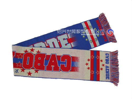 Jacquard acrylic football/soccer fan scarf