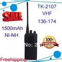 Рация TK-2107 VHF radio 5 watts Two Way radio with BATTERY & CHARGER TK 2107 two way radio