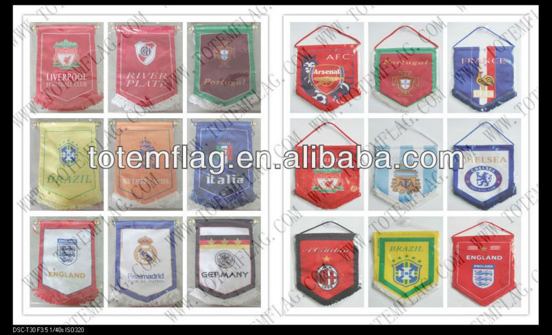 Mini Soccer Products , Pennant Soccer Flags , Soccer Pennants