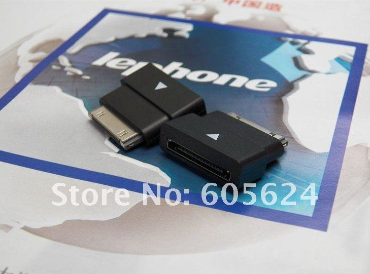 30pin M to F Dock Extender Extension Adapter for Apple iPhone 4 4S iPad 2 3 iPod,White or Black 99018