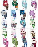 Комплект одежды для девочек Retail Cartoon Style Kids Clothes baby pajamas set 100% cotton sizes:18-24/2/3/4/5y/6y kids pajamas