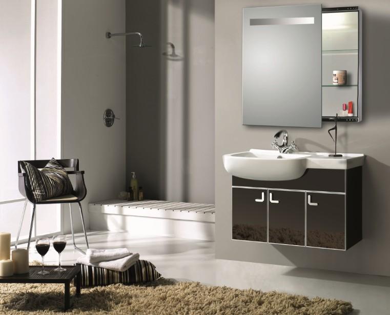prix pas cher salle de bains en acier inoxydable armoire. Black Bedroom Furniture Sets. Home Design Ideas