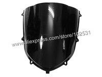 Ветровое стекло для мотоцикла Black Motorcycle Windshield WindScreen Kawasaki ZX10R ZX 10R 04 05 Y381