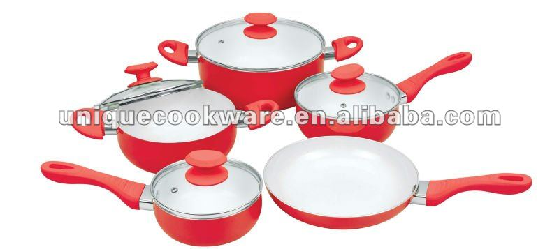 9pcs Ceramic Fry Pan Set Fry Pan AS Seen ON TV Biolux Kerama Ceramic Pan Set