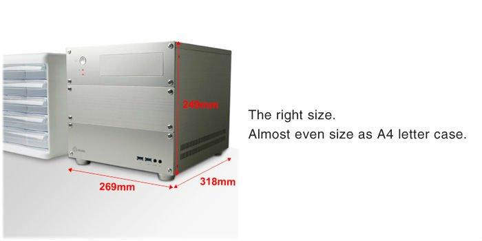 acubic CP715 Silver / Aluminum PC Case Price negotiable!!
