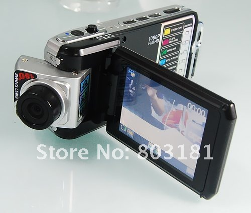 Car DVR,Full HD Digital Camera 12.0 Mega pixels 1920x1080p Vehicle Car DVR F900LHD Motion Detection 360 Degrees free shipping