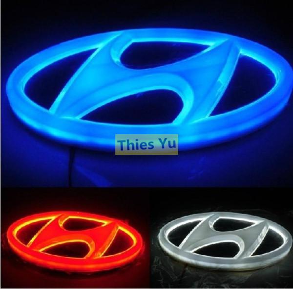 Hyundai ix35 i30 Соната Тусон автомобилей 4d логотип Холодный свет эмблема значок стикер лампа 14,5 см * 7,2 см
