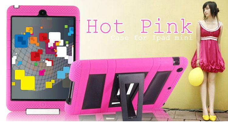 Brand New Rugged Silicon Heavy Duty Folding Kickstand Case For iPad Mini Robot Case
