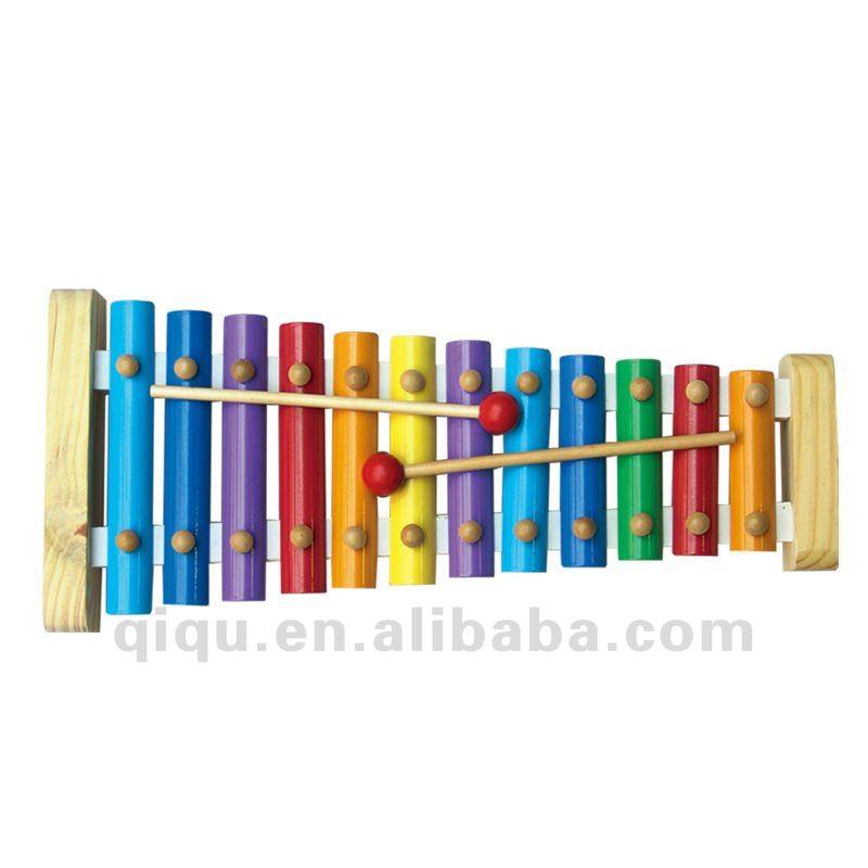 Instrumentos Musicais de Brinquedo de madeira Xilofone Colorido para As Crianças
