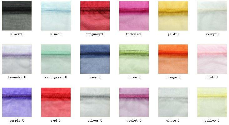 Pastel Mini Organza Drawstring Bags