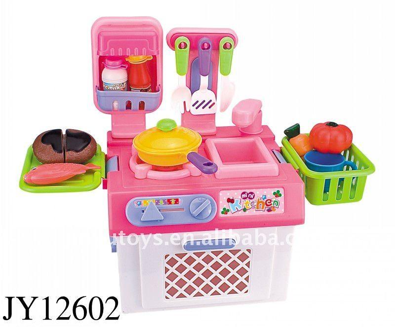 Mini hot sale pink kitchen little toy buy kitchen set for Kitchen set toy