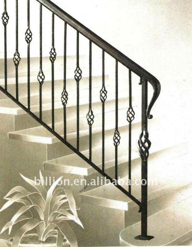 De interior escalera de hierro forjado escaleras rectas - Escaleras rectas de interior ...
