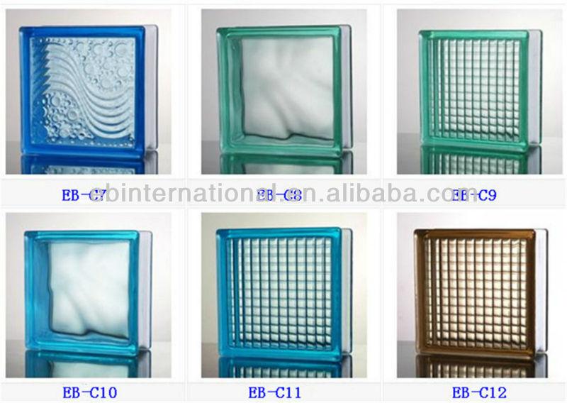 190 190 80 de vidrio hueco del bloque bloques de - Cristales para paredes ...
