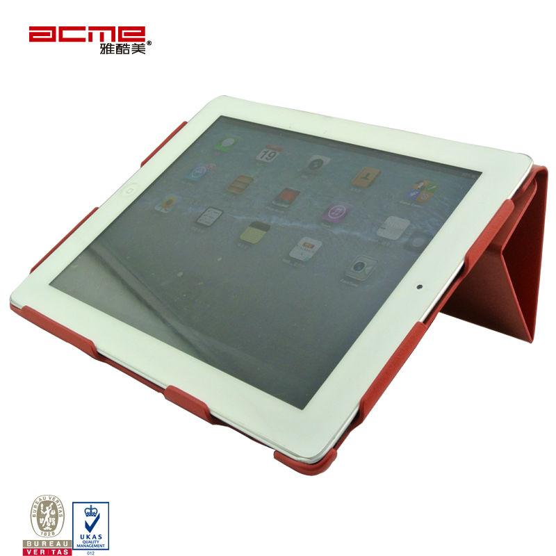 Customized PU flip case for ipad 2/3/4