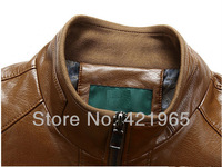 Мужские изделия из кожи и замши! Brand men's fashion High quality sheepskin leather Motorcycle jacket / M-3XL
