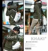 Thicken Korea Style Fashion Women  Hoodies Coat  Long sleeve Zip Up Outerwear, Black/Blue/Army green/Purple/Light gray