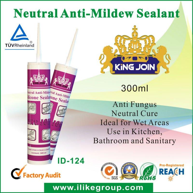 Simple Component Anti-mildew Bathroom&Washroom Use Sanitary Silicone Sealants(REACH,SGS)
